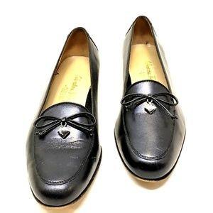 Salvatore Ferragamo Women's 8 Leather Box Loafers